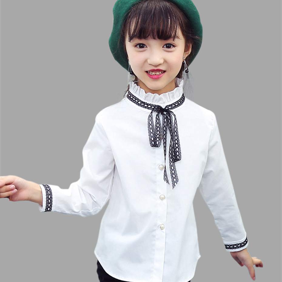 Teenage Girls Blouses Lace Tops Shirts For Girls Dress Spring Kids Blouse For Girls Clothes Autumn Kids Tops 6 8 10 12 14 Y