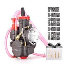 Universal 250CC 350CC PWK Carburador รถจักรยานยนต์คาร์บูเรเตอร์สำหรับ Mikuni Dellorto Koso กับ JET JET 24 มม.26 มม.28 มม.30 มม.32 มม.34 มม