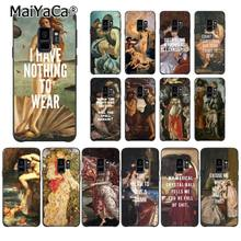 MaiYaCa Art Paintings The Birth Of Venus Phone Case for Samsung Galaxy S9 plus S7 edge S6 S10 Lite S10Plus S10E S8 plus(China)