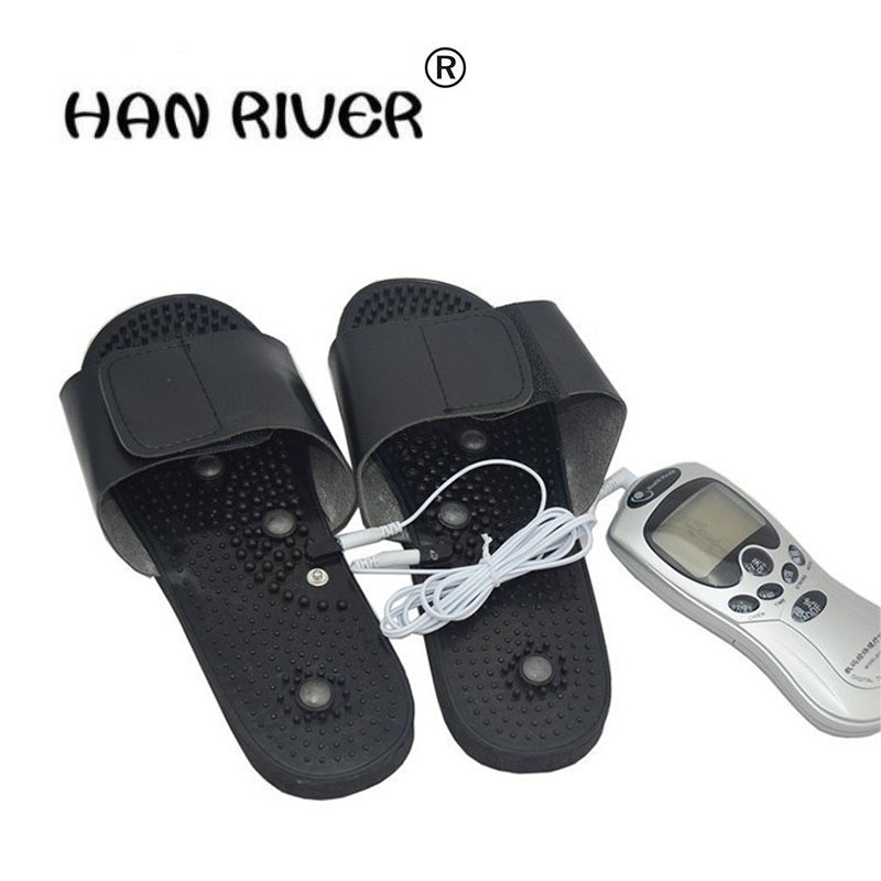 The new high quality massager multifunctional foot massage slippers digital fields Physiotherapy massage slippers 16 modes multifunctional physiotherapy smoothing burn fat massager reduce pain hand grenade massage slippers therapy knee pads