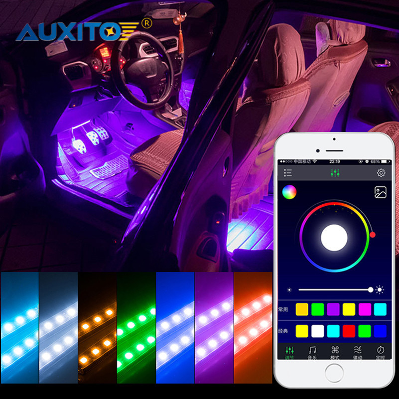 цена на For Mitsubishi Outlander Lancer 10 9 ASX Pajero Sport L200 Colt Carisma APP Control Car Interior LED Atmosphere Decoration Light