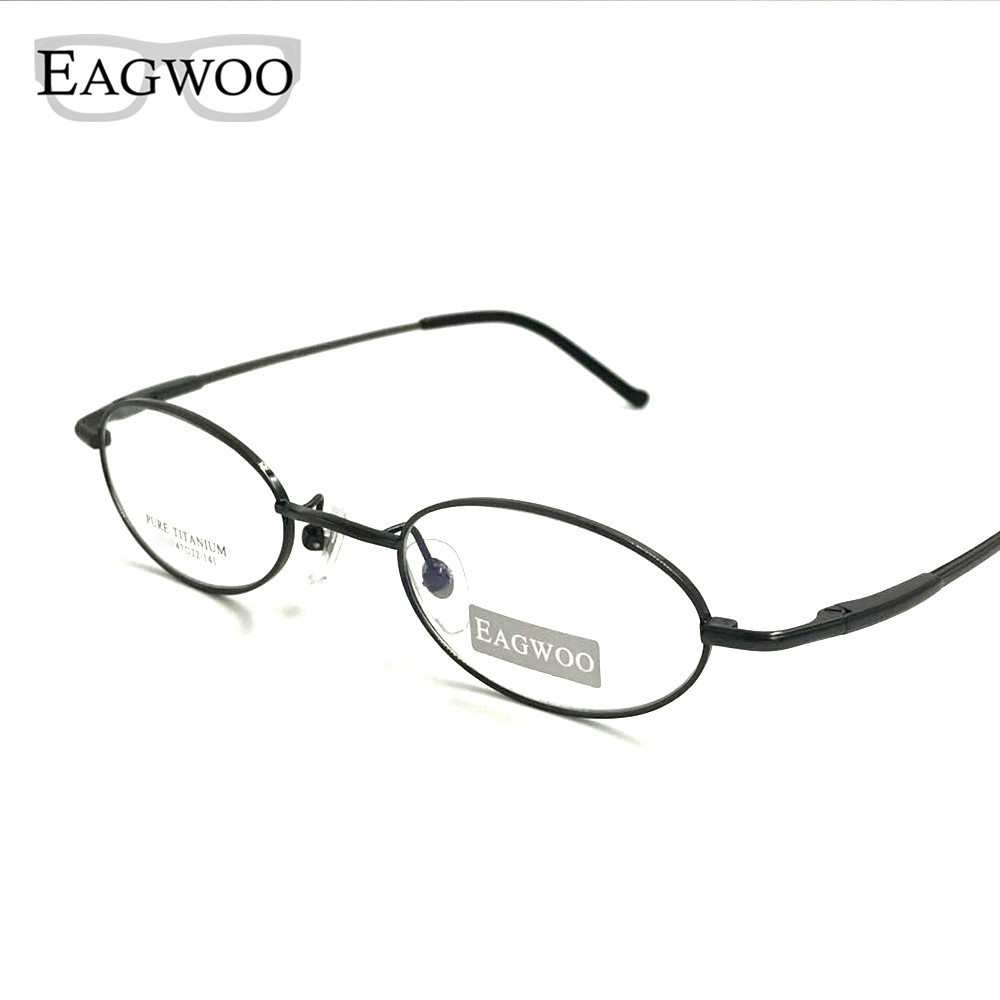Pure Titanium Eyeglasses Small Optical Frame Suitable For High Strength Power Prescription Glasses Oval Shape Spectacle 1699