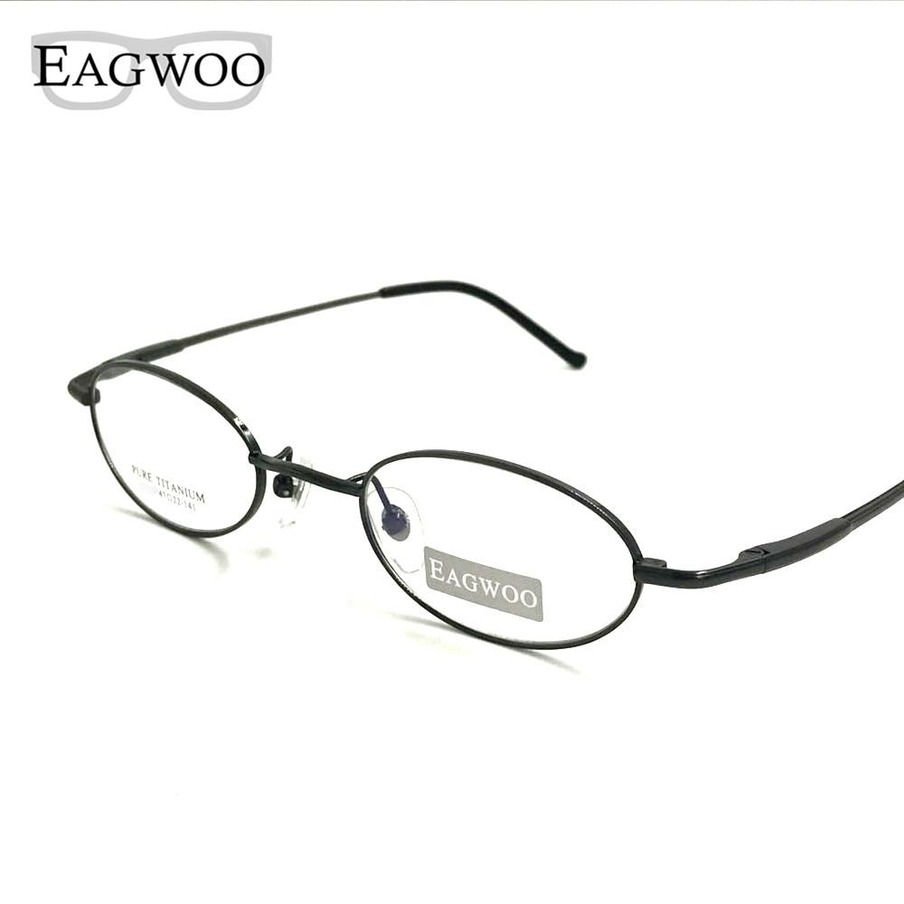 Pure Titanium Eyeglasses Small Optical Frame Suitable For
