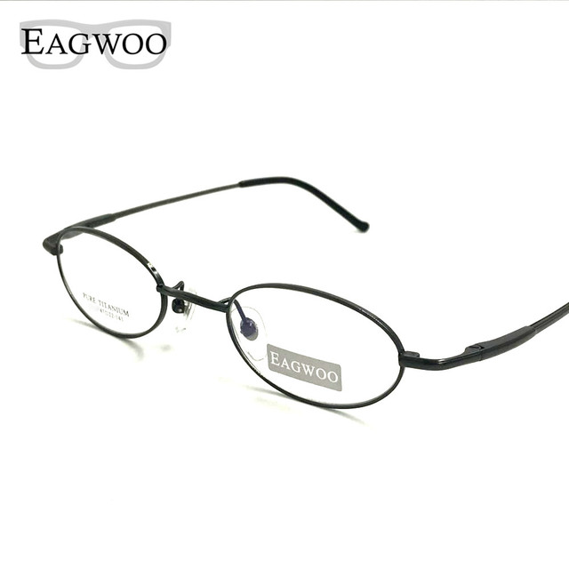Pure Titanium Eyeglasses Small Optical Frame Suitable For