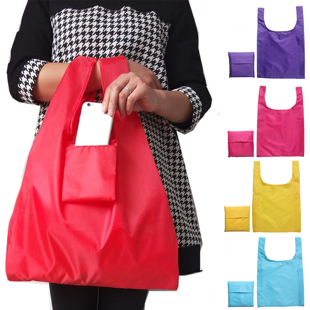 Foldabled Large Capacity Shopping Bag Eco-friendly Oxford Cloth Reusable Waterproof Solid Durable Multifunctional #326