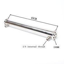 """2 """"OD64 Dephlegmator/مكثف/ارتداد طول 450 مللي متر ، 6 أنابيب ID8mm الفولاذ المقاوم للصدأ 304 مكثف"""