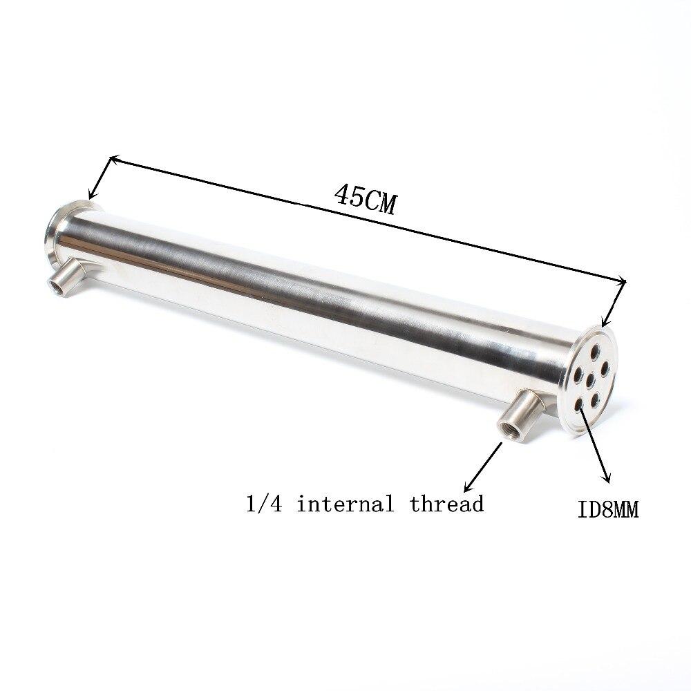 """2 """"OD64 Dephlegmator/Condensatore/Reflusso Lunghezza 450mm, 6 tubi ID8mm In acciaio inox 304 condensatore-in Macinini da Casa e giardino su  Gruppo 1"""