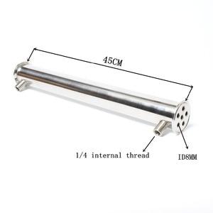 """Image 1 - 2 """"od64 dephlegmator/condensador/refluxo comprimento 450mm, 6 tubos id8mm condensador de aço inoxidável 304"""