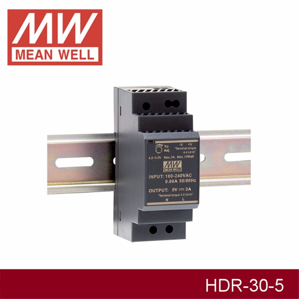 MEAN WELL HDR-30-5 5V 3A meanwell HDR-30 15W Single Output Industrial DIN Rail Power SupplyMEAN WELL HDR-30-5 5V 3A meanwell HDR-30 15W Single Output Industrial DIN Rail Power Supply