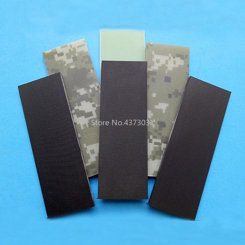 2Pieces Fine Lines Black Color Diy Knife Handle Material Glass Fibre G10 Handmade Material Patch Material