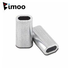 Bimoo 100 шт. Упаковка премиум одиночные алюминиевые рукава для моноволокна такелажа трассировки Лидер щипцы 1,0 мм 1,2 мм 1,5 мм