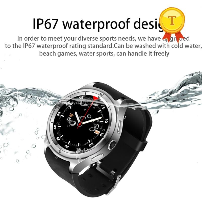 Vente chaude montre Intelligente 3G montre pour hommes WiFi GPS SmartWatch MTK 6580 calories 2.0MP Caméra Podomètre Fréquence Cardiaque phonewatch - 3