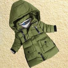 2016 Зимой Дети Одежда Мальчики Верхняя Одежда Хлопок Теплые Детские Пальто Молния Трикотажные Водолазки Парки