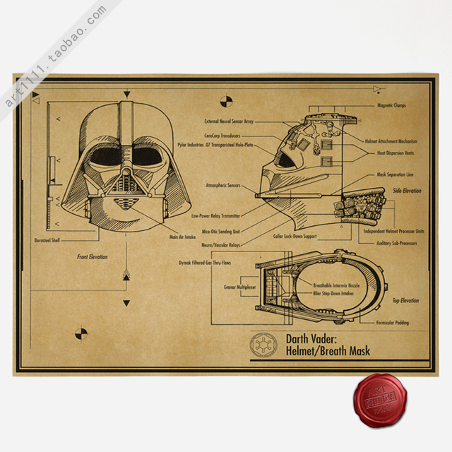 Star Wars Vintage Retro Poster