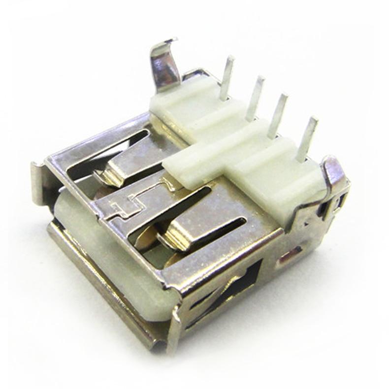 100 Pcs A Female USB Socket Looper USB-A Type Connector Female