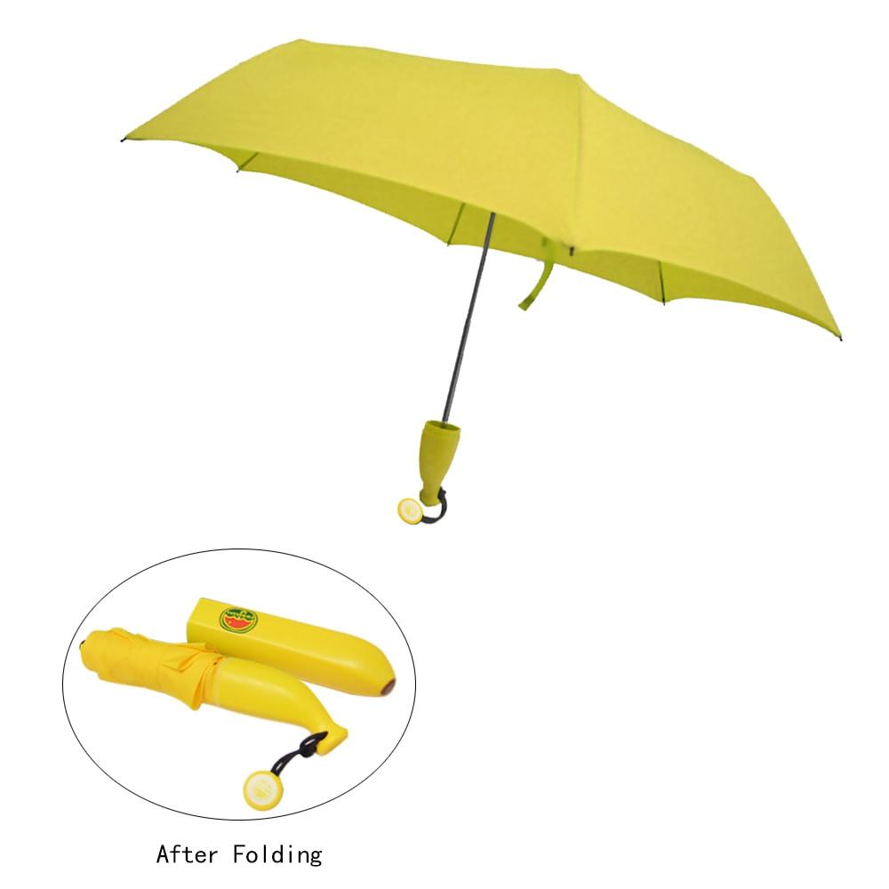 6476dc89c697 Practical Umbrella banana folding umbrella banana umbrella yellow-in ...