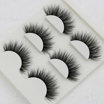 012 Smokey Makeup False Eyelashes 3D Stereo Multi-layer Cross Messy Natural Fake Eyelashes Soft Cotton Thread Thick Eyelashes