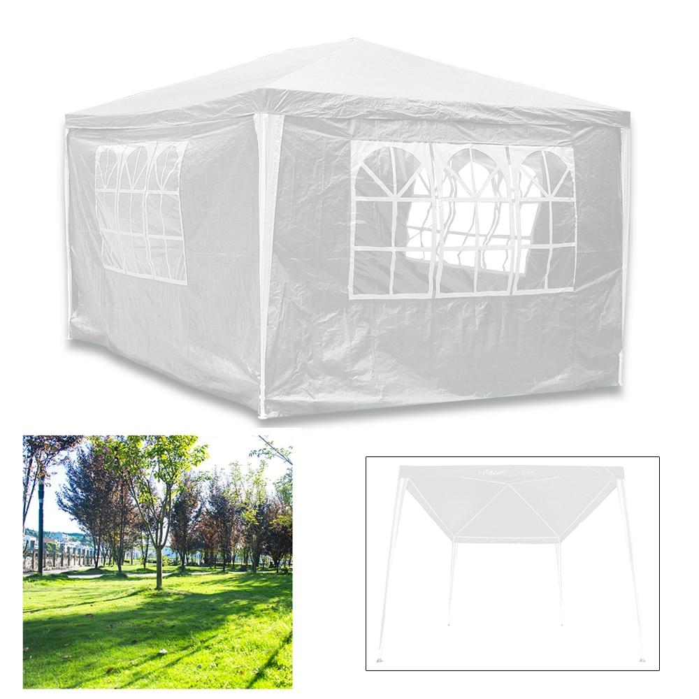 3X3 M biały altana ogrodowa wodoodporny zewnętrzny namiot namiot markizy baldachim grill Camping 4 panele boczne