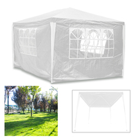 3X3M White Garden Gazebo Waterproof Outdoor Party Tent Marquee Awning Canopy BBQ Camping 4 Side Panels