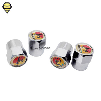 Car Accessories Wheel Tire Valve Stem Caps Valve Cover For Abarth 500 595 695 204A 1000 Zerocento Alfa Romeo 124 Spider Punto image