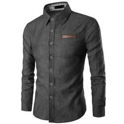 ZOGAA 2019 Горячая Новая брендовая мужская весенне-осенняя мужская рубашка с длинными рукавами хлопковая деловая тонкая рубашка Уличная