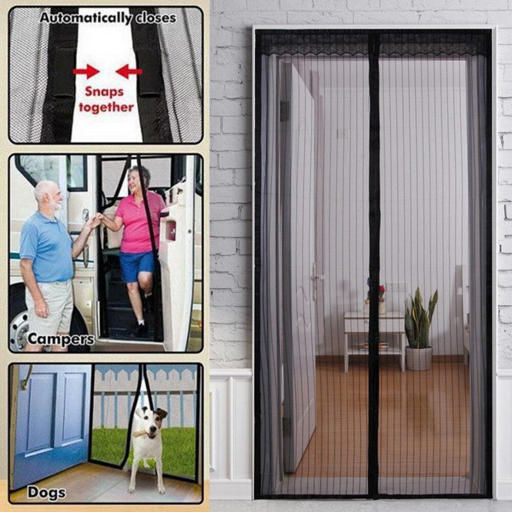 1 Stück Durable Tür Bildschirm Vorhang Mesh Tür Moskito Net Auf Magneten Hand-freies Anti Bug Schützen Von Insekten 1*2,1 Mt Drop Verschiffen