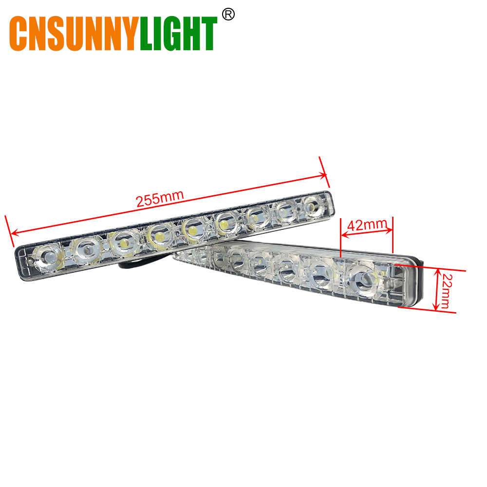 CNSUNNYLIGHT Waterproof LED Day Time Running Lights DRLs Fog Lamp White 6000K Super Bright 12V Universal for Car Light Styling