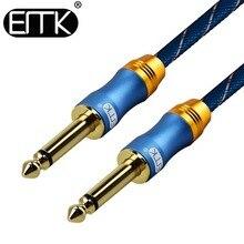ЭМК 6,5 мм аудио кабель 6,3 Aux кабель нейлоновая оплетка 6,35 Джек мужчинами моно Гитары кабель 1 м 3 м 5 м 10 м для микшер-усилитель