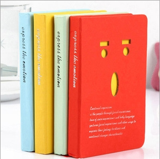 MIRUI stationery creative smiling expression Hard copy laptop notebook graduation gift diary book 1