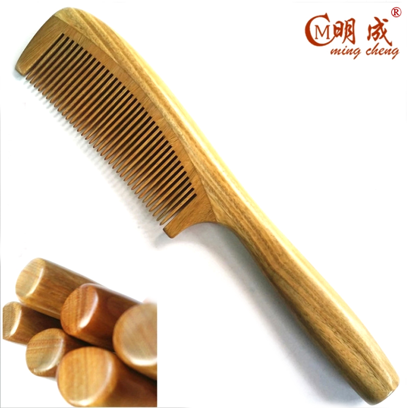 Hot Sale Anti-Static Handicraft Natural Sandalwood Sandal Hair Combs Fine Comb Care Round Handle Wooden