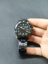c7139ae0800 Relógio de Homens de aço Inoxidável Vidro de Safira GMT Bezel Rotativo  SOUTHBERG Banda Esporte Quartz relógio de Pulso reloj rel.