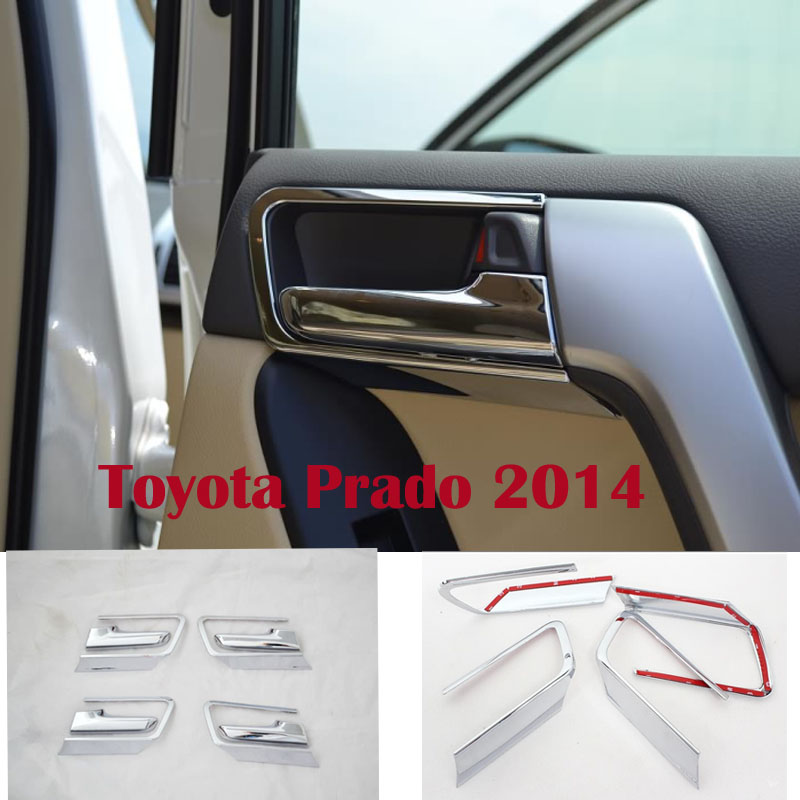 2014 Chrome Interior Door Handle Cover Trims For Toyota Land Cruiser Prado FJ 150 2700/4000