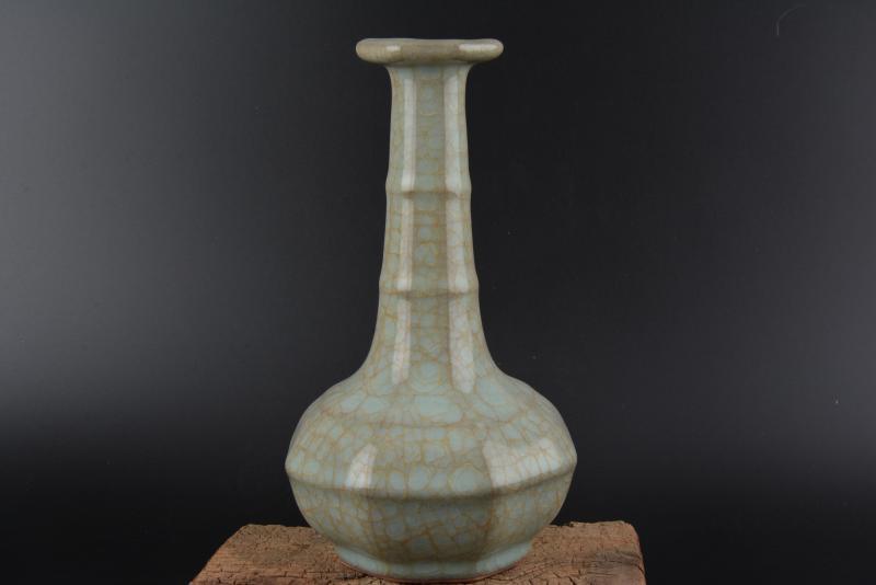 Antico SongDynasty vaso di porcellana, forno di RU, scala di Pesci smalto, Decorazione Domestica collezione & ornamento