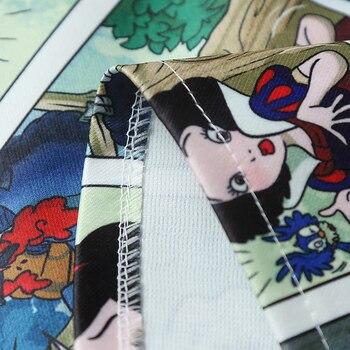 Snow White Cartoon Print Mini Skirts Summer High Waist Pencil Skirt Beach Warp Skirts Design A-Line Korean Vintage Slim Fit Sexy 6