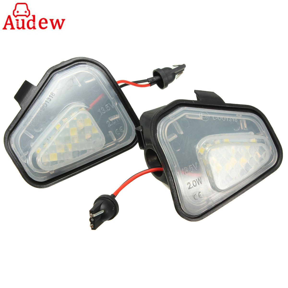 2Pcs 18 LED White Car Under Side Mirror Puddle Lights For VW for Passat/EOS/CC/E-marked rakesh kumar and shashank singh mechanical cultivation of rice under puddle and unpuddle condition