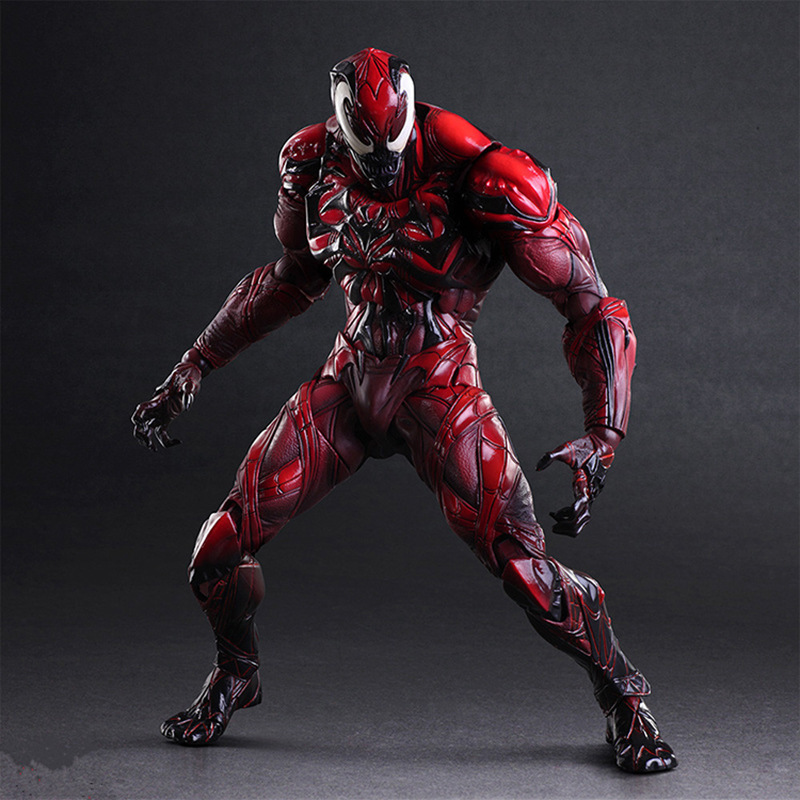 NEW hot 28cm spider-man Carnage Enhanced version Action figure toys doll Spiderman Christmas gift new hot 28cm justice league supergirl superman enhanced version action figure toys collection christmas toy doll with box