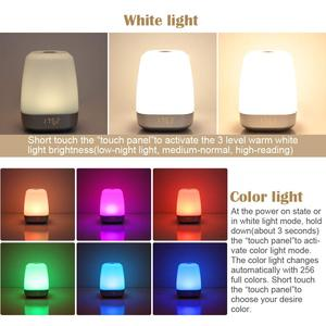 Image 4 - Hot Wake Up Light Alarm Clock  Press Control Multicolor Dimmable, Sunrise Simulation Digital Led Clock With Heavy Sleepers