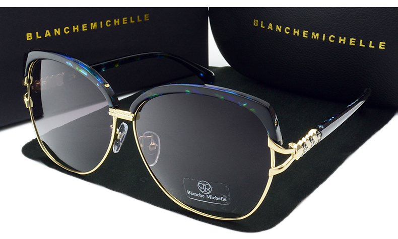HTB1ipOZcn0ATuJjSZFEq6yp2FXai - Blanche Michelle 2018 High Quality Square Polarized Sunglasses Women Brand Designer UV400 Sun Glasses Gradient Sunglass With Box