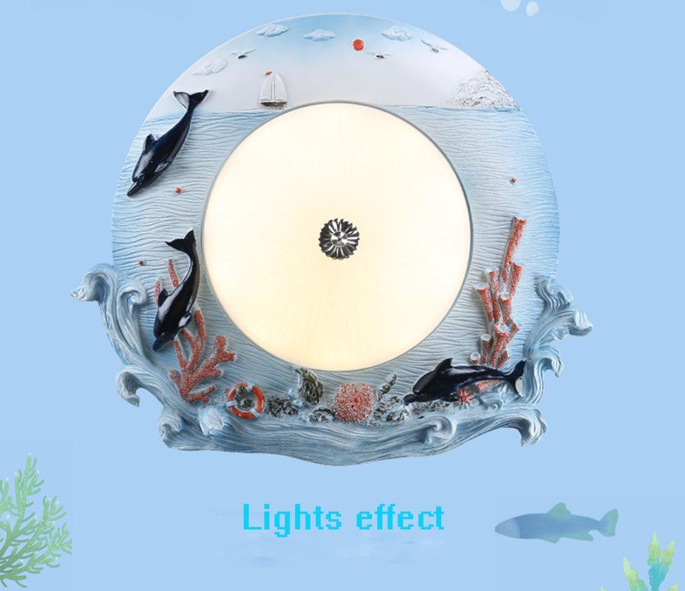 HGhomeart Children LED Blue Ceiling Lights Home Lighting Living Room Lustre Luminaire 110~220v Flush Mount Ceiling Light