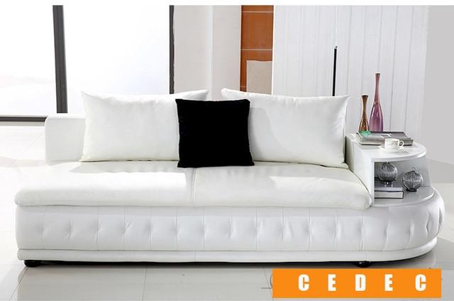 White Leather Living Room Sofa  3
