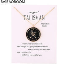 New Arrived Magical Talisman Series Glaze Drops Bergamot Buddha Pendant Protection Charm Necklace Jewelry(China)