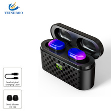 YEINDBOO Portable Wireless Bluetooth 5.0 Earphones TWS Sport earbuds with 3500mAh Power Bank Charging Box for Phone