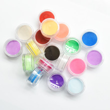 18Colors Fine Shiny Glitter Acrylic Color Powder For Professional Nail Art UV Powder Dust Tips Decoration 3D Nail Art Kit Powder цены