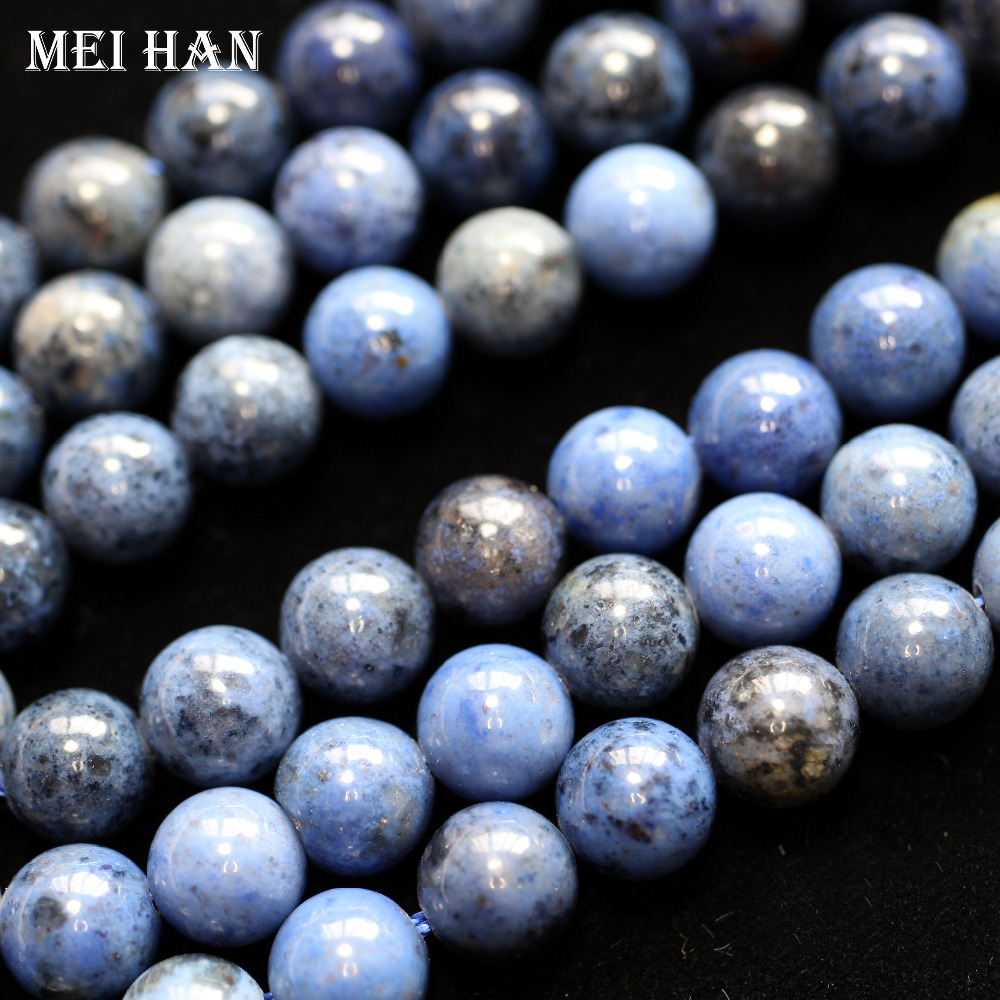Gem-Stone Loose-Beads Mixed Jewelry-Making-Design Round Natural Blue 10mm 8mm for Gift