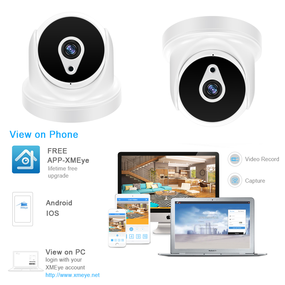 YiiSPO 1080P IP Camera HD 2 0MP 3MP 4MP poe indoor IR CUT Night Vision XMeye P2P CCTV security camera ONVIF phone view in Surveillance Cameras from Security Protection