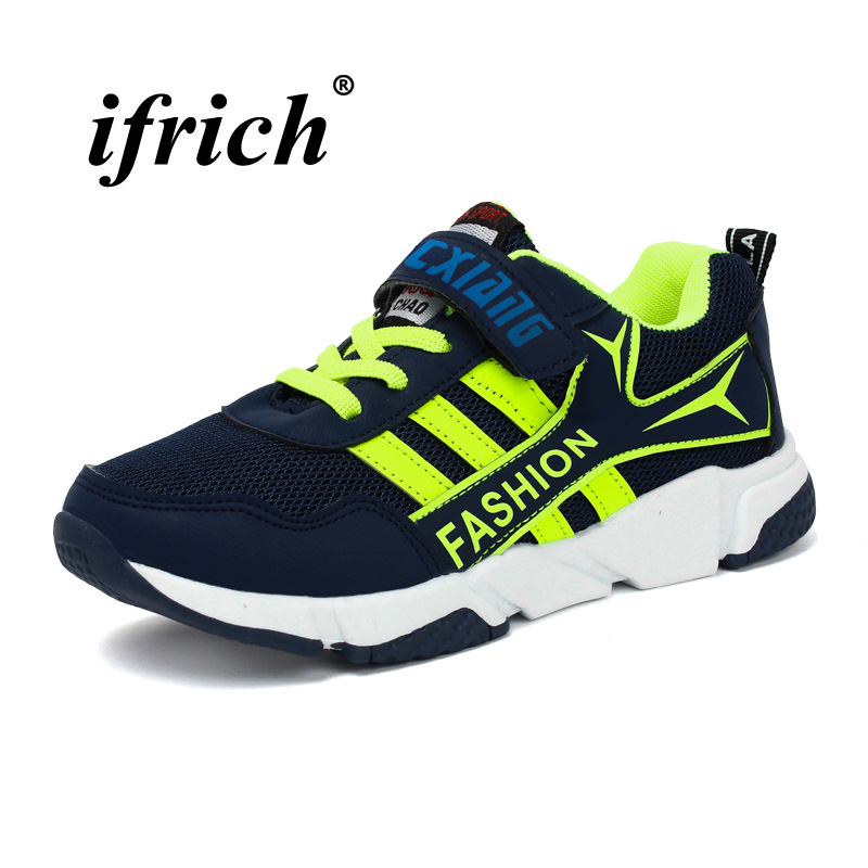 2018 New Trend Children Boys Running Shoes Comfortable Kids Boys Shoes Sneakers Rubber Bottom Children Athletic Sneakers Boys