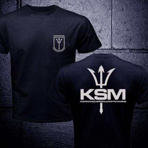 68f9ec9e6df61 Alemanha Forças Especiais Kampfschwimmer KSM Kommando Spezialkrafte Marinha  camiseta homens dois lados presente tee Casual EUA tamanho S 3XL em  Camisetas de ...