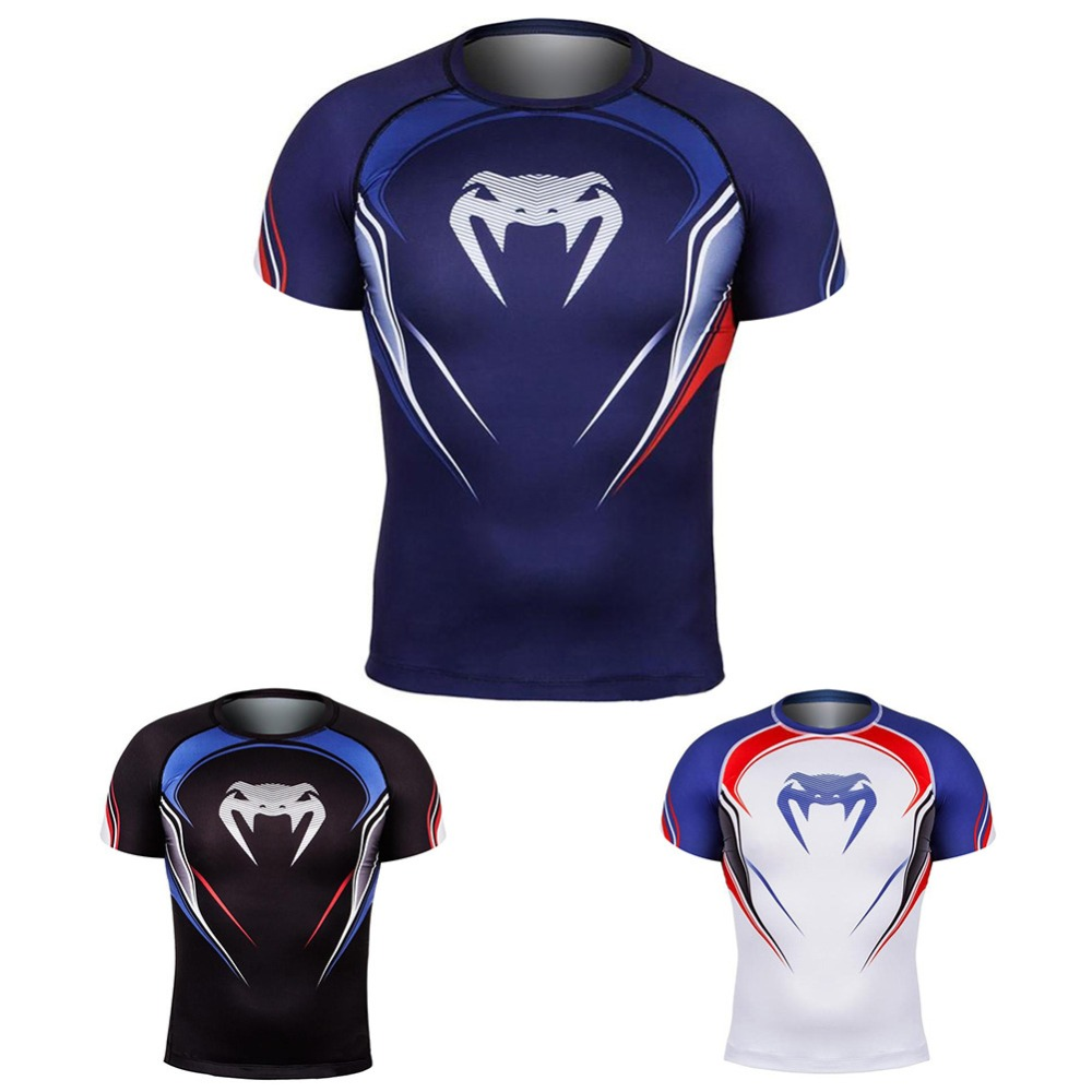 Raglan Sleeve venom 3D Printed T shirts Men Compression Shirts 2019 Summer NEW Cosplay Crossfit Tops For Male Fitness Cloth