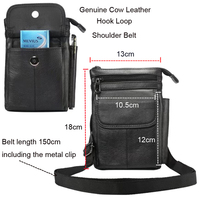 Genuine Cow Leather Pouch HOOK Loop Waist Belt Phone Case For Galaxy S6 S7 EDGE S8 S9 S10 Plus A6S A8S J6 J8 A8 A9 Star Note8