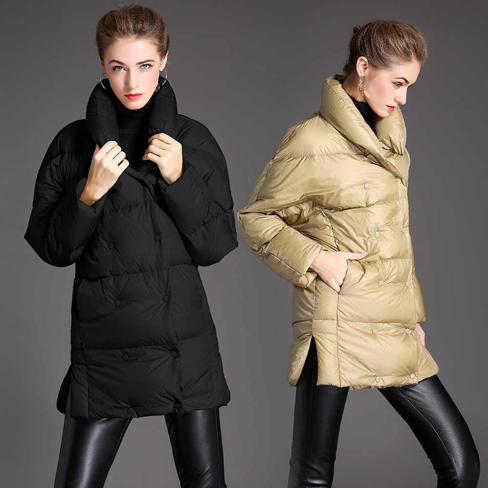 2018 зимний женский пуховик большого размера, толстый пуховик для женщин, большой размер, пуховик для зимы W76003